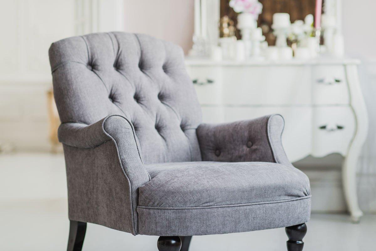 sillón vintage gris